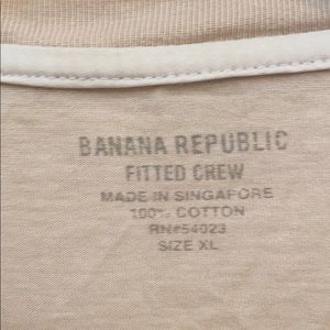 Banana Republic Shirts - Banana republic cream fitted crew t-shirt